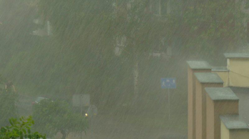nawalne opady deszczu