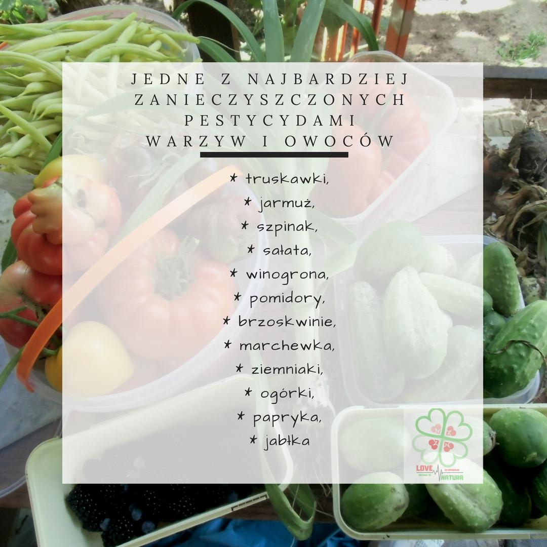 najbardziej zanieczyszczone pestycydami owoce i warzywa