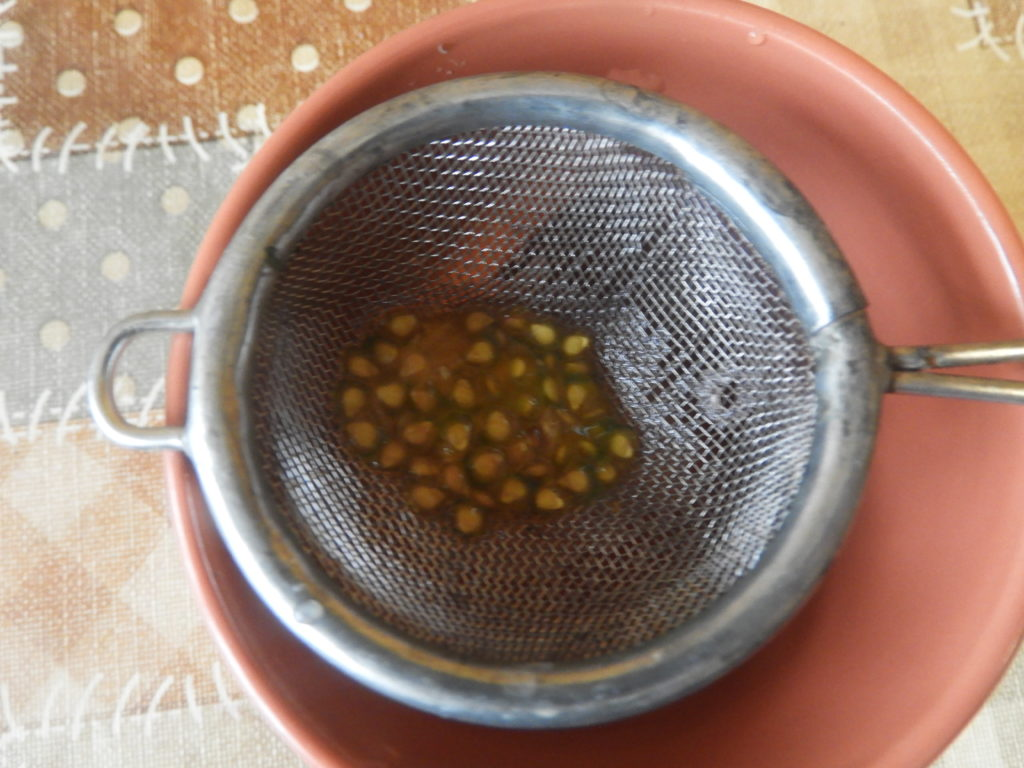 czyszczenie nasion pomidorów